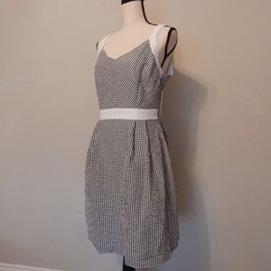 Gingham Checkered Dress with Lace